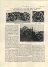 1927 Pavesi Tractor With Four-wheel Drive