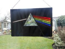 Stained Glass Pink Floyd Dark Side of the Moon Suncatcher or Wall Picture