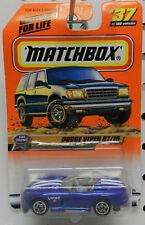 DODGE VIPER ROADSTER RT/10 BLUE BOYS MOPAR CAR SHOWS # 37 1999 MBX MB MATCHBOX