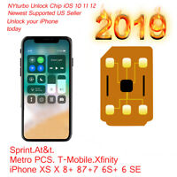Perfect Unlock Sim Turbo Card for iPhone XS X 8 7 6S 6 Plus 5 SE R iOS 12.4 lot
