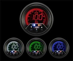 Prosport Universal 52mm Premium Evo Electrical Oil Pressure Gauge Multi Color