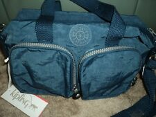 KIPLING LYSA S HANDBAG - DUST BLUE - there is no monkey with this bag