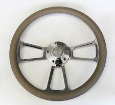 "Chevelle Nova Camaro Impala 14"" Steering Wheel Grey Billet SS Center cap"