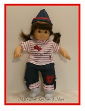 RWB Pants Set fits Bitty Twin Baby American Girl Doll