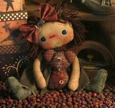 PATTERN Primitive Raggedy Ann Doll Raggedy Annie Doll & Mouse Ornie Doll CUTE!