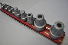 VIM Tools XZNS1000 9 Pcs Stubby XZN Triple Square Drive Set on Mag Rail