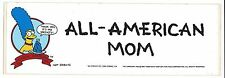 Vintage 1990 Simpsons Bumper Sticker Marge Simpson All American Mom