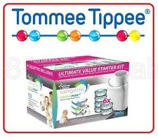 ❤ Tommee Tippee Sangenic New Starter Pack Nappy Wrapper System + 6 Free Refill ❤