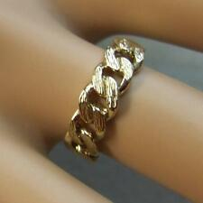 9ct gold second hand fancy chain style ring