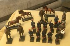 Antique 1930's Composition LINEOL Soldiers Lot Of 20 Figurines Germany