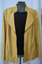 Atelier Goldner Schnitt Womens Yellow Suede Leather Biker Jacket Size 22