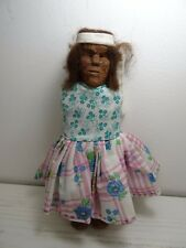Primitive Wood Doll Hand Carved Vintage Unique