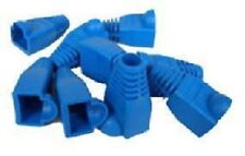 New 100 Pcs Lot blue CAT5 CAT5E CAT6 RJ45 8P8C Plug Connector End Cap Boot