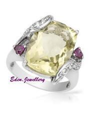 $360 FPJ Gorgeous Ring Quartz Rhodolite Garnets Topaz Sterling Silver 60% OFF