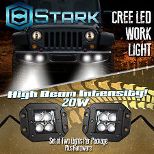 20W CREE SPOT LED Cube Pods Work Light Flush Mount Offroad Truck Square x2 (A)