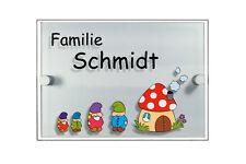 Türschild Acryl mit Namen Türschilder Hausnummer Hausnummernschild Namensschild