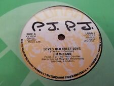 """JIM McCANN * LOVE'S OLD SWEET SONG * 7"""" SINGLE EXCELLENT IRELAND 1982"""