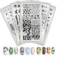 BORN PRETTY Christmas Nail Stamping Plates Snowflake Image Templates New Design