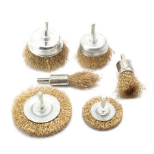 6mm Shank Brass Brush Steel Wire Wheels Brushes Drill Metal Rust Removal Brush