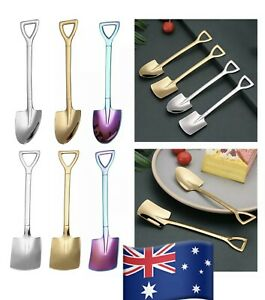 4pcs Shovel spoon Stainless-Steel Coffee Dessert Ice Cream Sundae Craft party