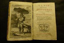 Französische Erstausgabe Robinson Crusoe 1720 von Daniel Defoe