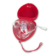 POCKET SIZE CPR RESCUE MASK KIT WITH HARD CASE & VINYL EXAM GLOVES