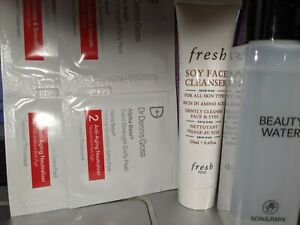 NEW SKINCARE ROUTINE FOR COMBO SKIN, 4 PCS, FRESH SOY CLEANSER, DR. DENNI PEEL