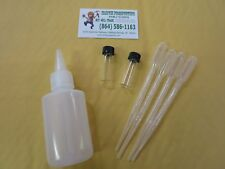 Martin 1 Gold Snuffer Bottle 4 oz 2 vials 4 snuffer tweezers for panning dredge