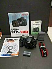 Canon EOS 50D camera body only charger & battery and book