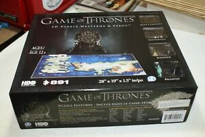 4D CITYSCAPE PUZZLE GAME OF THRONES - WESTEROS and ESSOS 891 Pieces USED