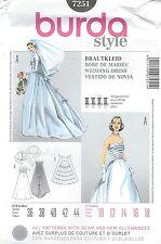 burda 7251 Misses' Bridal Gown 10 to 18    Sewing Pattern