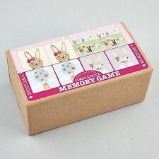 Hilo & Rock 18 pares que empareja tarjetas de memoria juego Bunny Niñas Regalo educativo