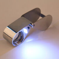 FT- 45x 21mm Glass Magnifying Magnifier Jeweler Eye Jewelry LED Loupe Loop Solid