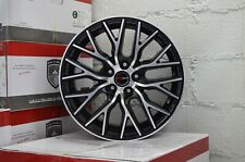 Set of 4 GWG Wheels 18 inch Black FLARE Rims 5x114.3 ET40 CB74.1