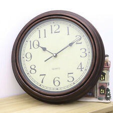 Rustic Wall Clock Quartz Round Wall Clock Silent Non Ticking Battery Operated
