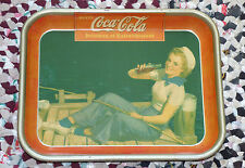 Rare French Canadian 1940 Coca-Cola COKE serving tray FREE SHIPPING!