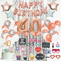 40th Birthday Decorations Supplies by Serene Selection, Happy Birthday!!!