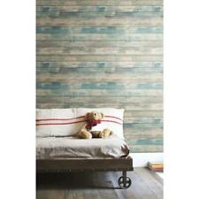 RoomMates Blue Distressed Wood Peel and Stick Wallpaper - Preowned