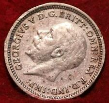 1936 Great Britain 3 Pence Silver Foreign Coin