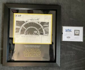 Star Wars Empire A New Hope - Original Storyboard - Falcon HyperSpace Propstore