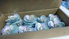 Total 10 Blue Sequence plastic flowers sewing trim