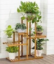 Bamboo Wooden Plant Stand Garden Planter Flower Pots Stand Shelf IndoorOutdoor A