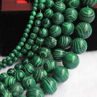Natural Malachite Gemstone Round Spacer Loose Stone Beads DIY 4/6/8/10/12mm