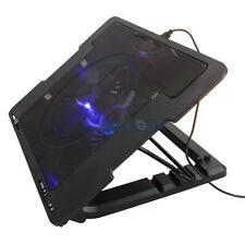 "9""-17"" 2 USB LED Light Tablet Laptop Cooling Cooler Stand Fan Pad Foldable HK"