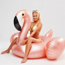 Golden Flamingo Inflatable Pool Floating Swimming Circle Pool Party Water Mat