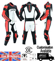 Motorbike Racing Leather Suit Motorcycle CE Armoured Customisation Available