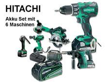 HITACHI Akku Set mit 6 Maschinen mit 4 Akkus