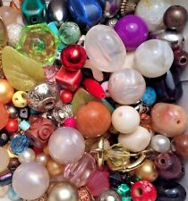 WOW BEAD LOT Jewelry Making Beads Crystals Glass Pendant Vintage Mod FRUIT SALAD