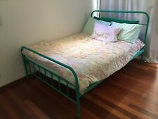 King Single Bed Frame - Used Willow Fantastic Furniture Aqua and Bedside Table