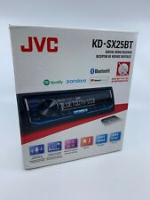 JVC KD-SX25BT Digital Media Receiver w/AM FM Bluetooth USB AUX - Single DIN